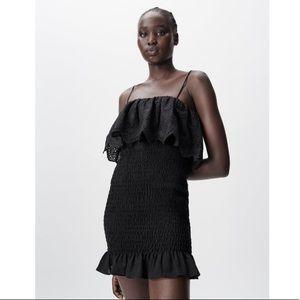 Eyelet Ruffled Dress Size XS NWT